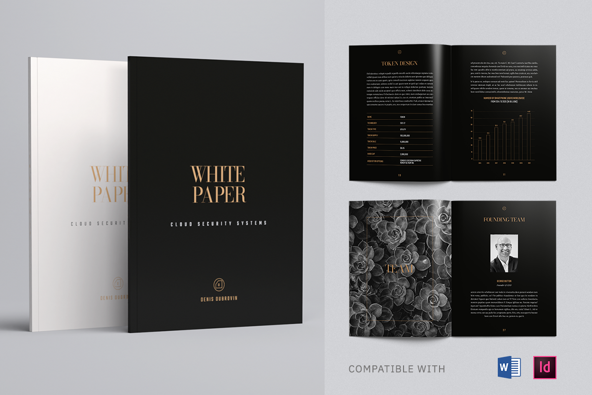 Luxury White Paper Template, Whitepaper Template