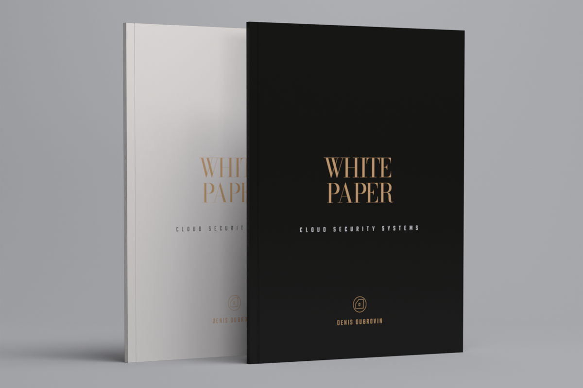 Luxury White Paper Cover Template, Whitepaper Template
