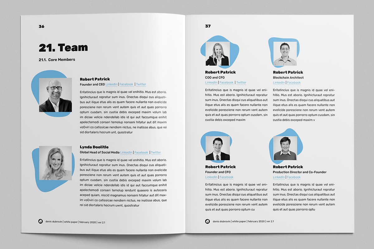 White Paper Illustrated Template, Whitepaper Template